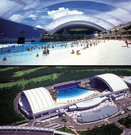 Zwembad grootste binnen zwembad van de wereld Japan