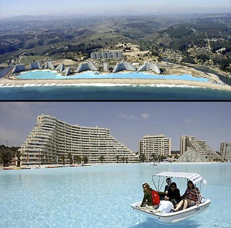 Zwembad grootste buitenzwembad van de wereld Chili