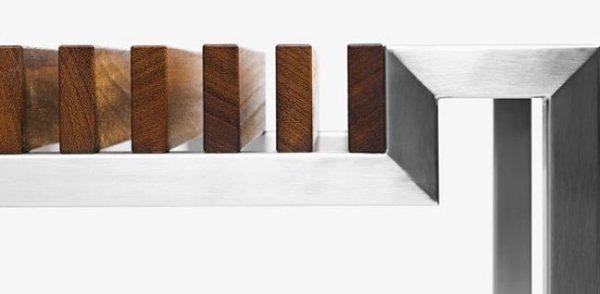 Hover Eco bankje van oud teak hout