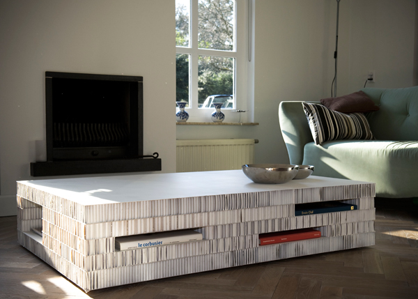 Meubels van karton gimmii shop magazine voor dutch design - Salontafel naar de slaapkamer ...