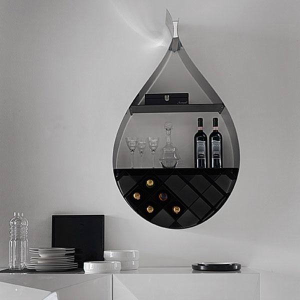 Waterdruppel wijnrek van Cattelan Italia