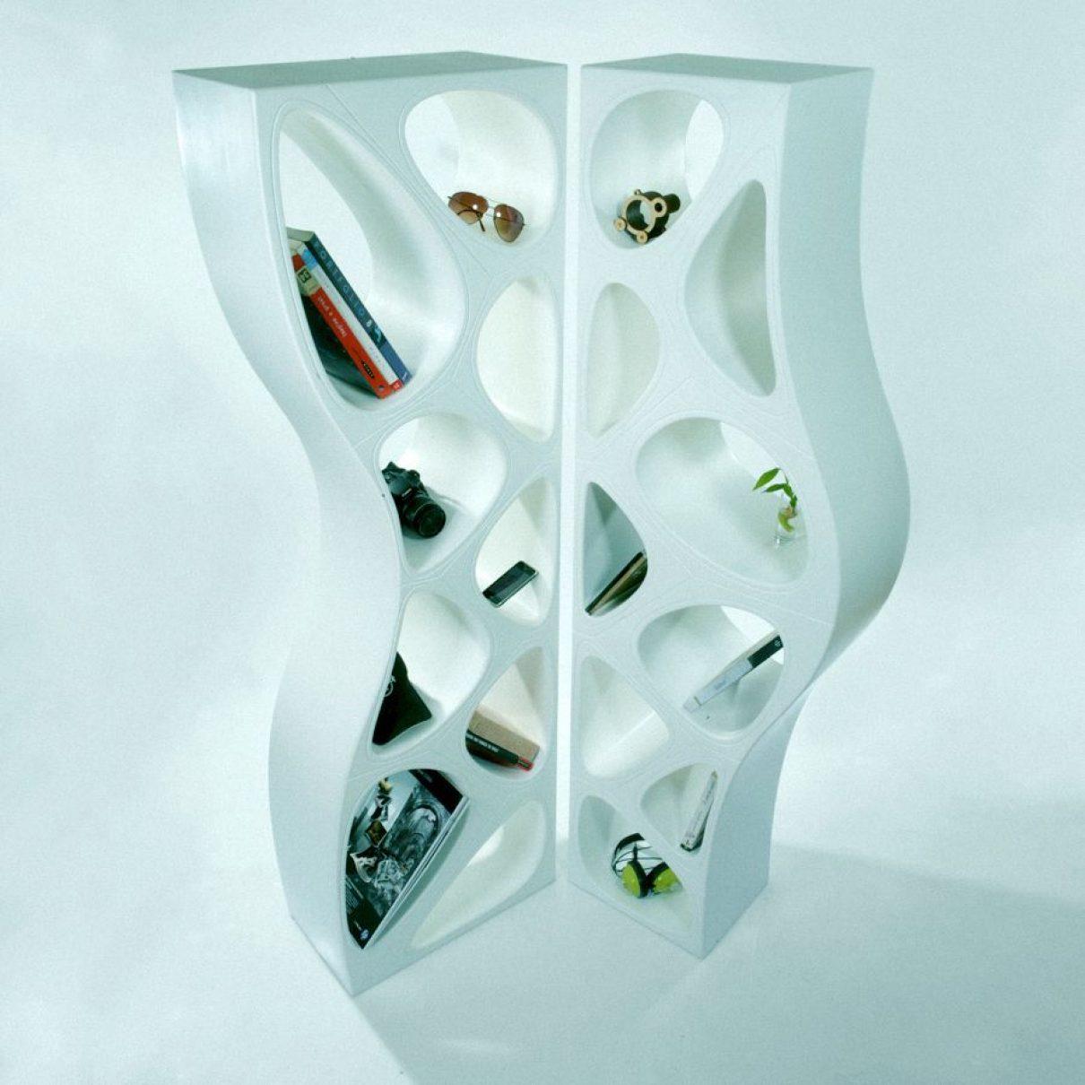 Parametrisch meubel: schots en scheef
