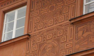 Muurdecoratie uit Warschau