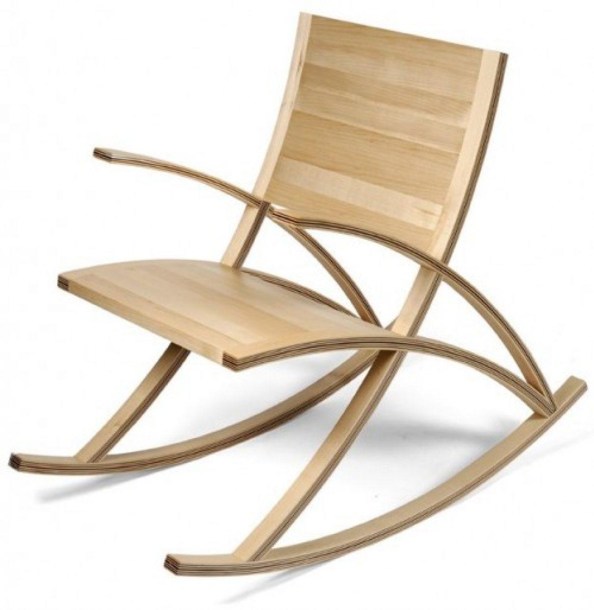 Geen rechtlijnige schommelstoel