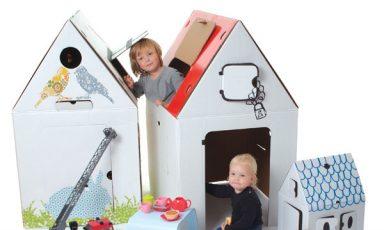 Kartonnen huis voor creatieve kids