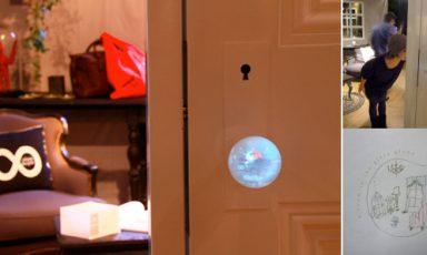 Spionerende deurknop