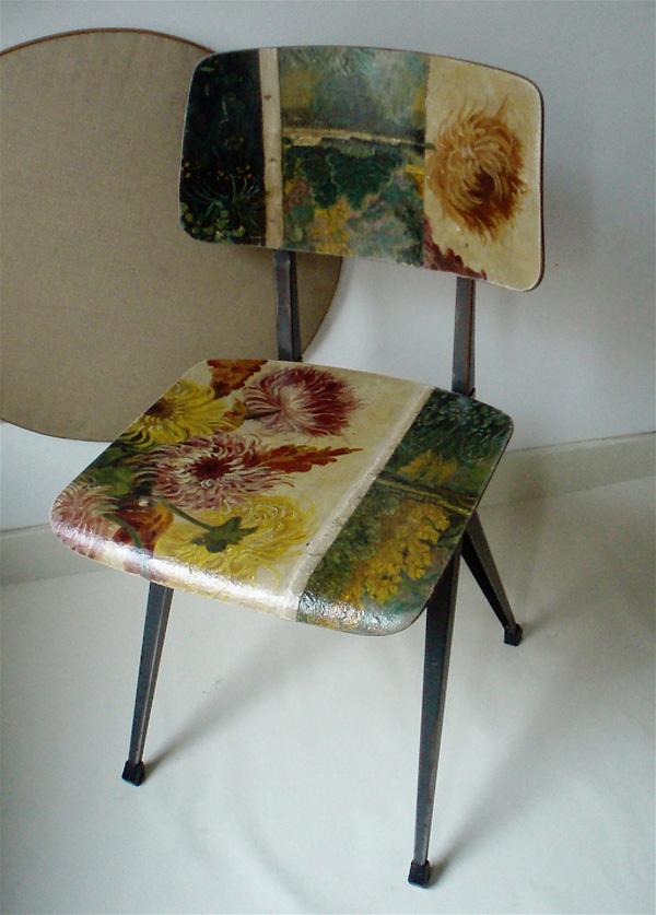 Olie op doek op stoel gimmii shop magazine voor dutch design - Stoel nieuwe kunst ...