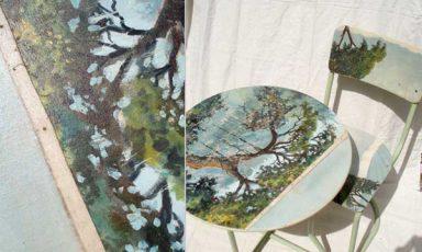 Olie op doek…op stoel