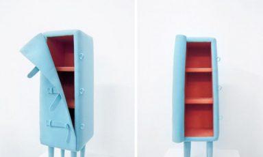 Aangeklede meubels van vilt