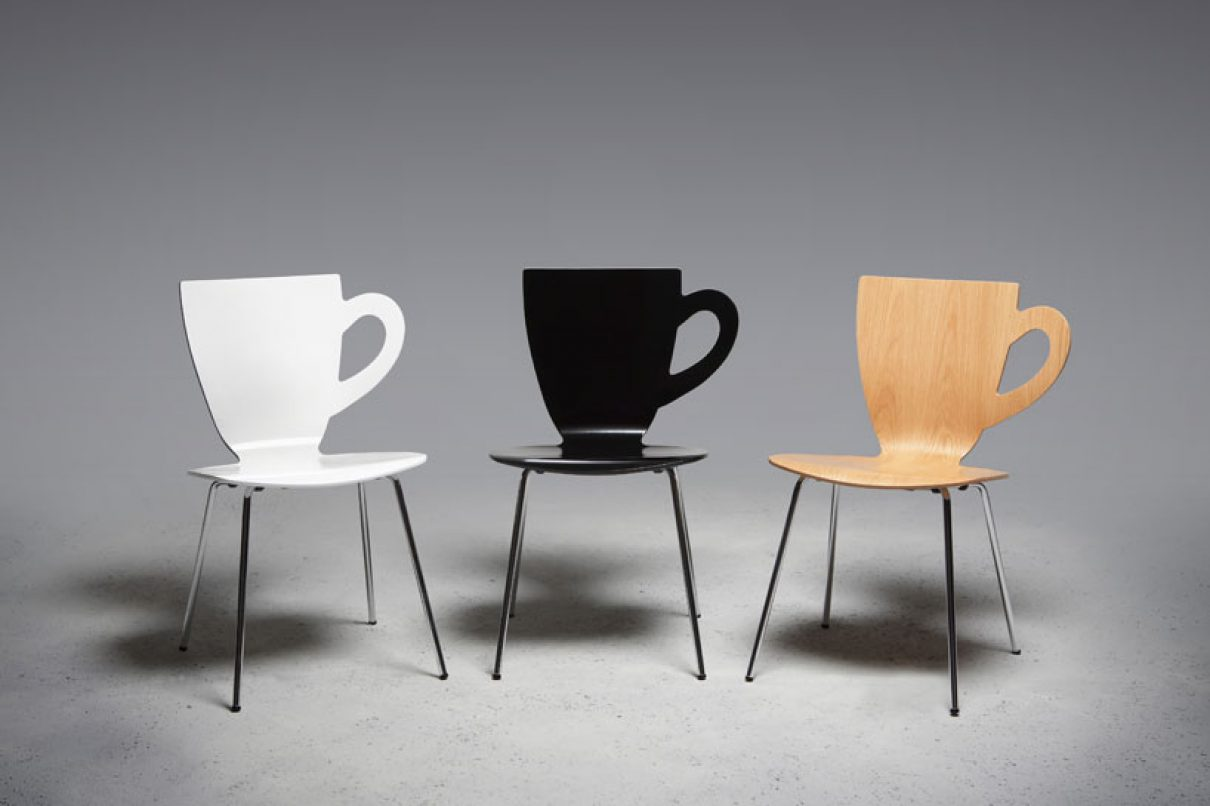 Koffiekop n schotel n stoel gimmii dutch design for Dutch design stoel