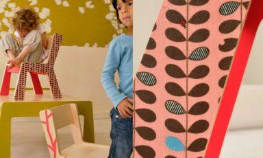 Coole kindertafel en stoelen van Kidsonroof