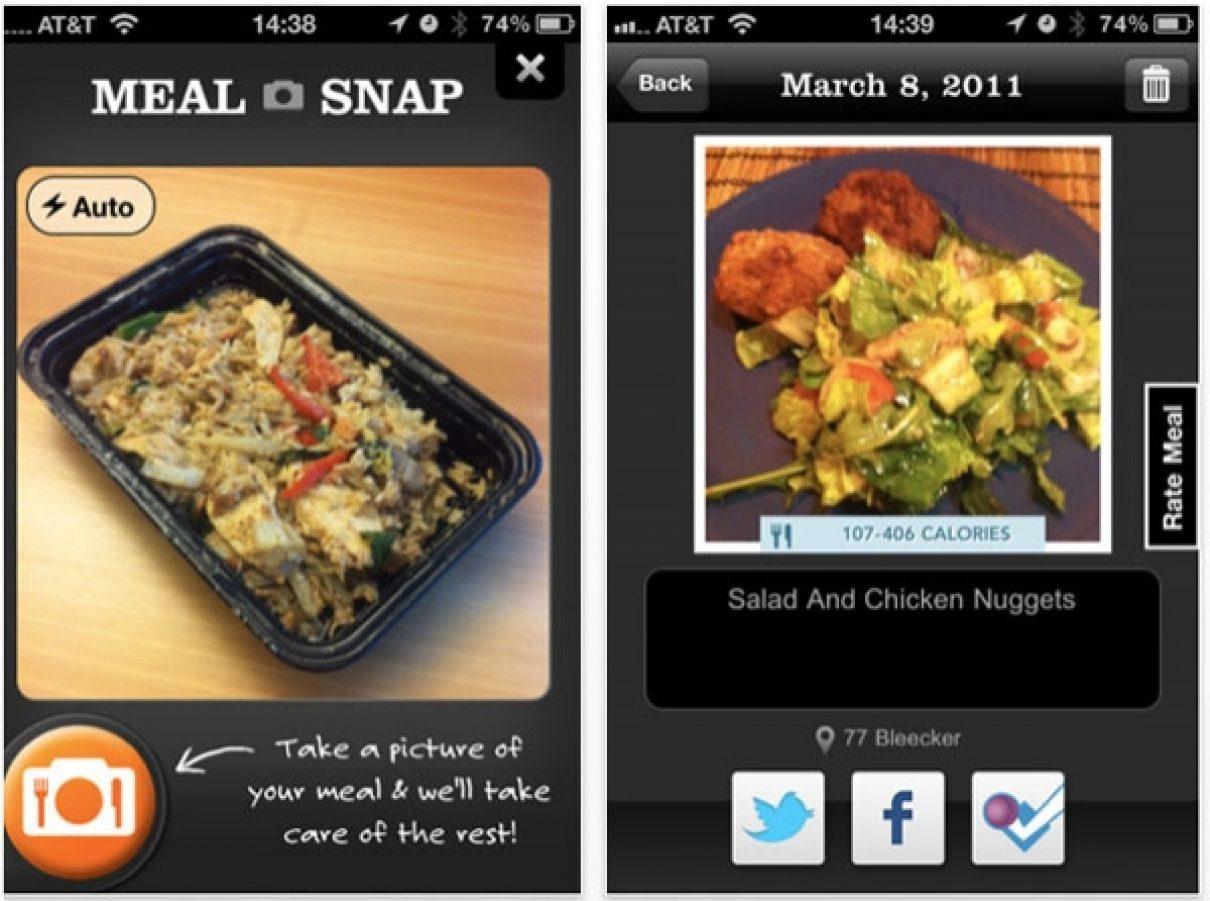 iPhone app Meal Snap maakt calorieën raden overbodig