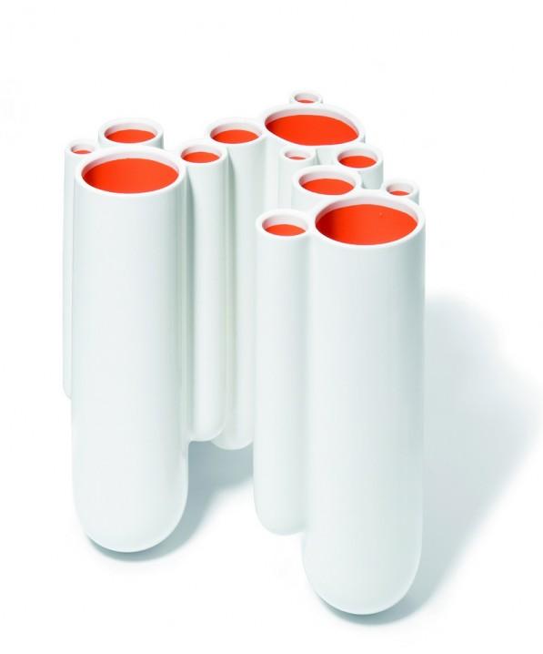 Dip vaas wit oranje van Robert Bronwasser