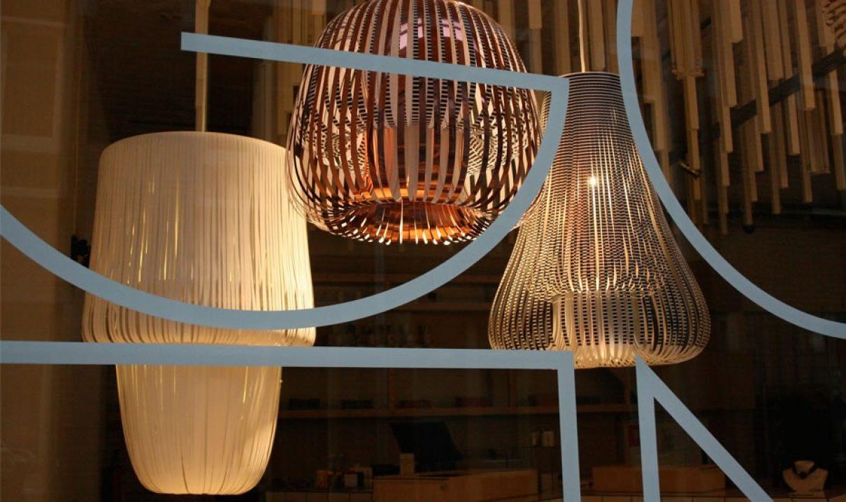 Papieren Lampen van Paula Arntzen