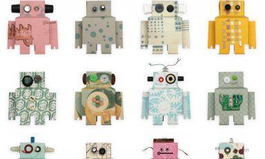 Robot behang van Studio Ditte