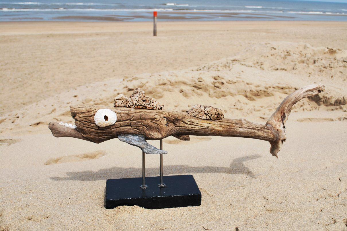 Eco-kunst / Vissen van drijfhout van Marcel Dijker