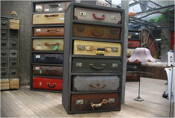 Ladenkast van koffers van James Plumb | Gimmii Dutch Design