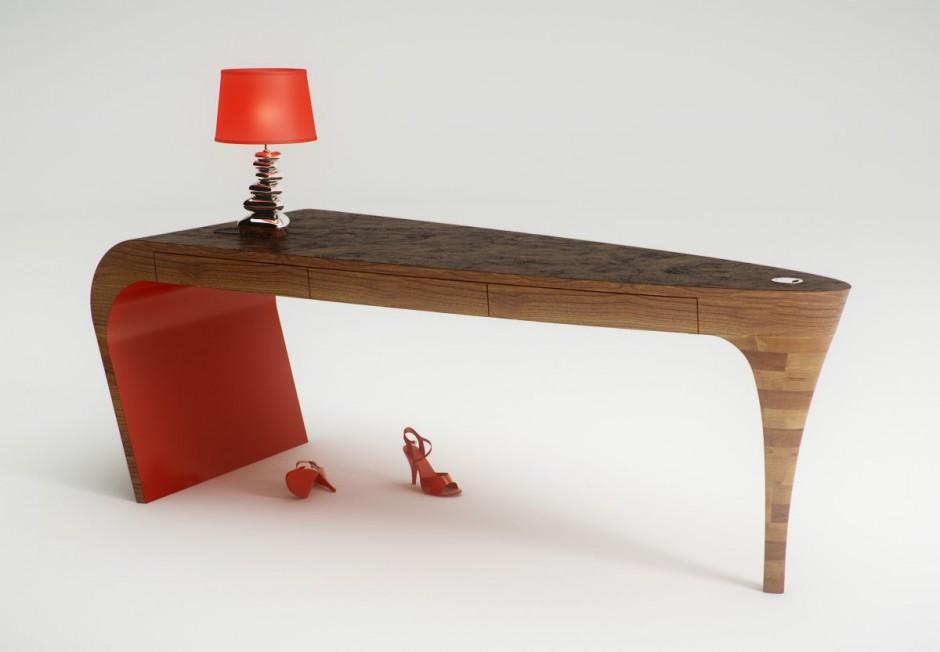 bureau-stiletto-rood-van-slinter-works