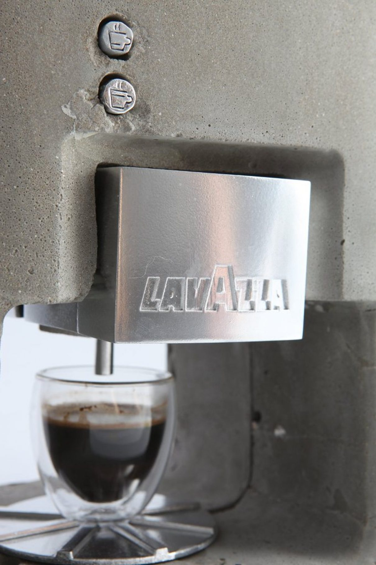 Espressomachine van beton