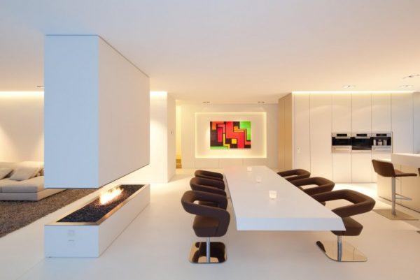Villa volledig gemaakt van hi macs gimmii shop magazine voor dutch design - Tafel design keuken ...