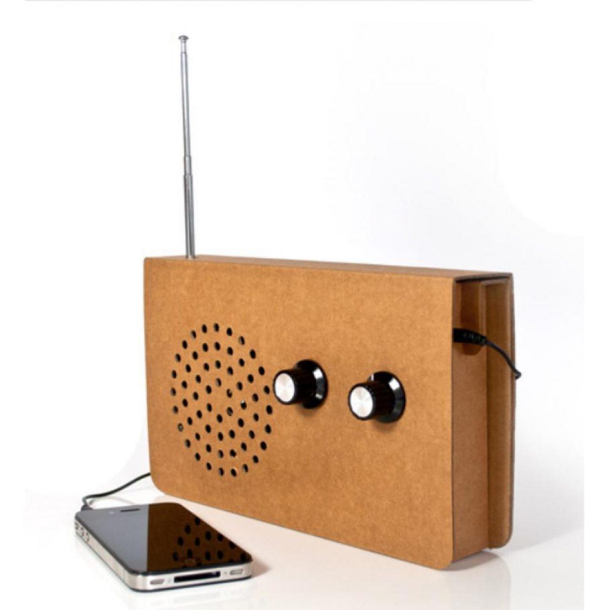 Kartonnen radio