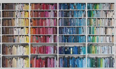 Een heuse bibliotheek op je behang