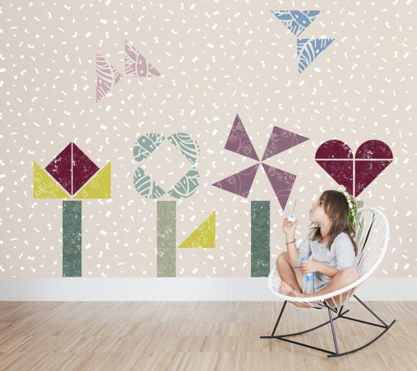 Tr s creatief behang voor kids gimmii dutch design - Thuis opslag bench wereld ...