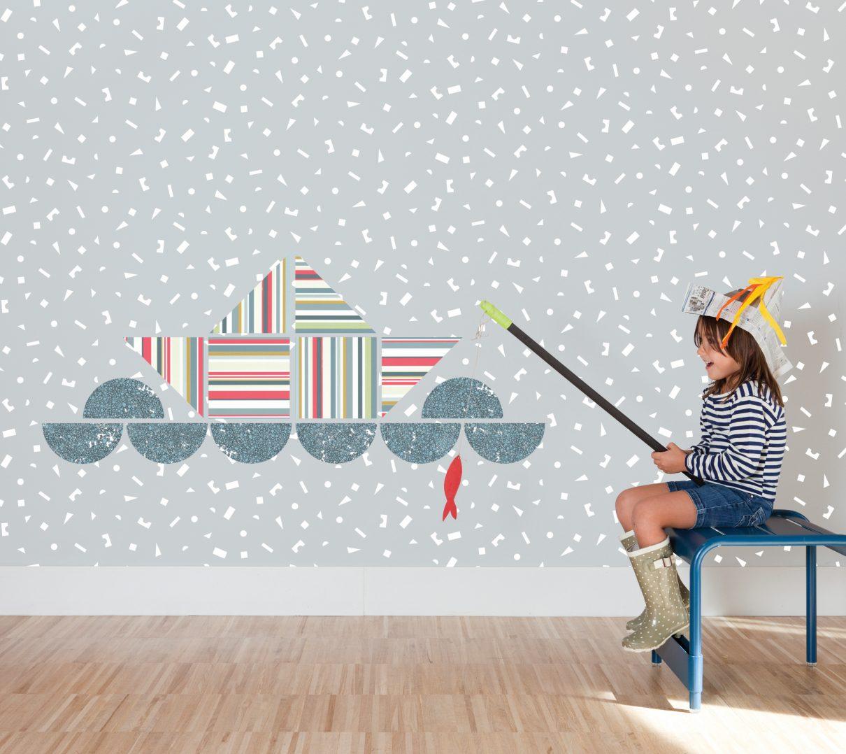 Trés creatief behang voor kids
