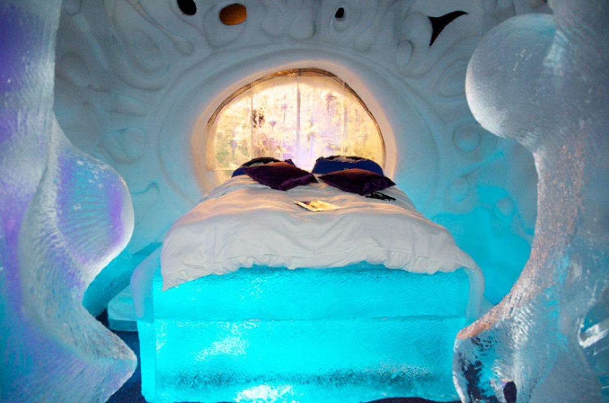 Cool slapen in IJshotel