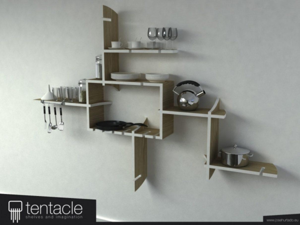 Creatieve Tentacle wandopsteling