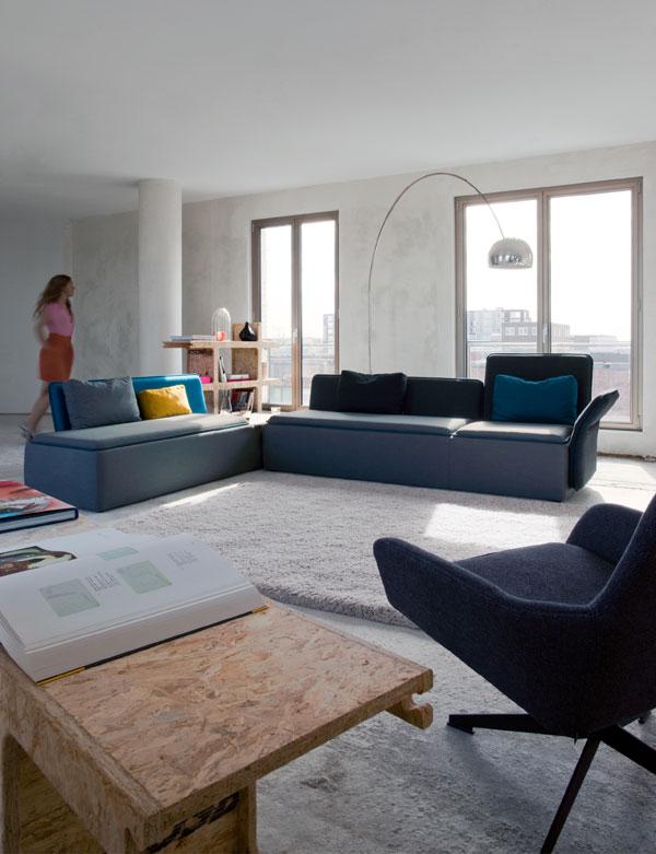 Gestroomlijnd bankzitten met stream van palau gimmii dutch design - Kantoor modulaire interieur ...
