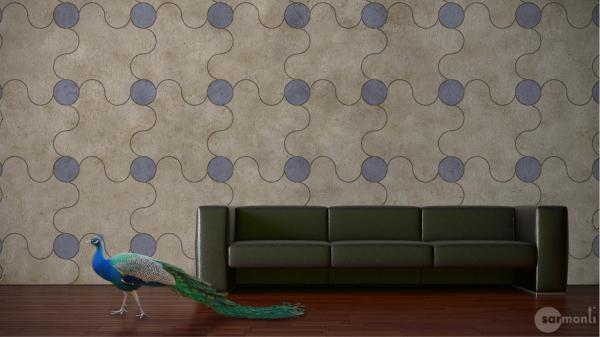 Escheriaanse tegelwand van sarmonti gimmii dutch design