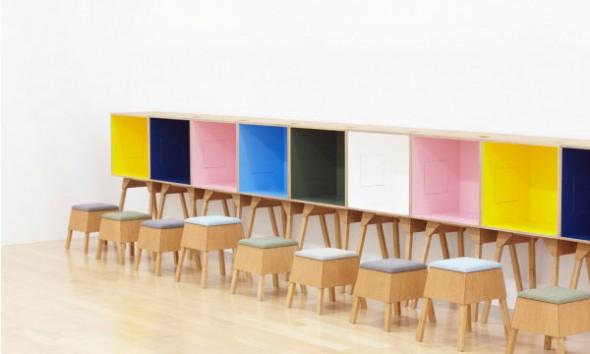 Slaapkamer Fauteuiltje : Kleurrijke werkplekken van Torafu Architects