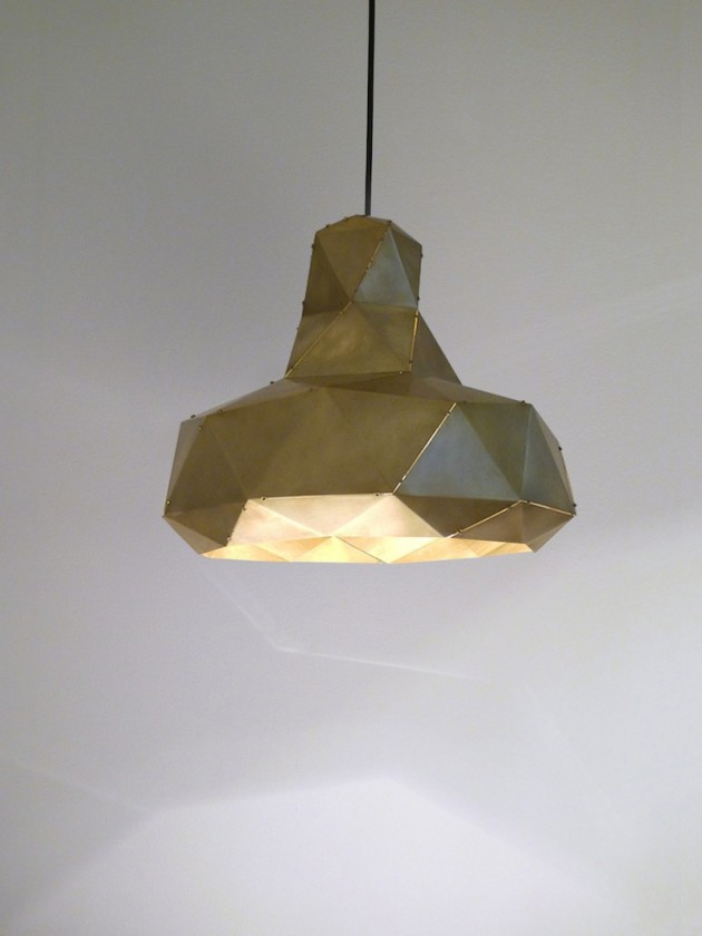 Helix lamp messing van Marc de Groot