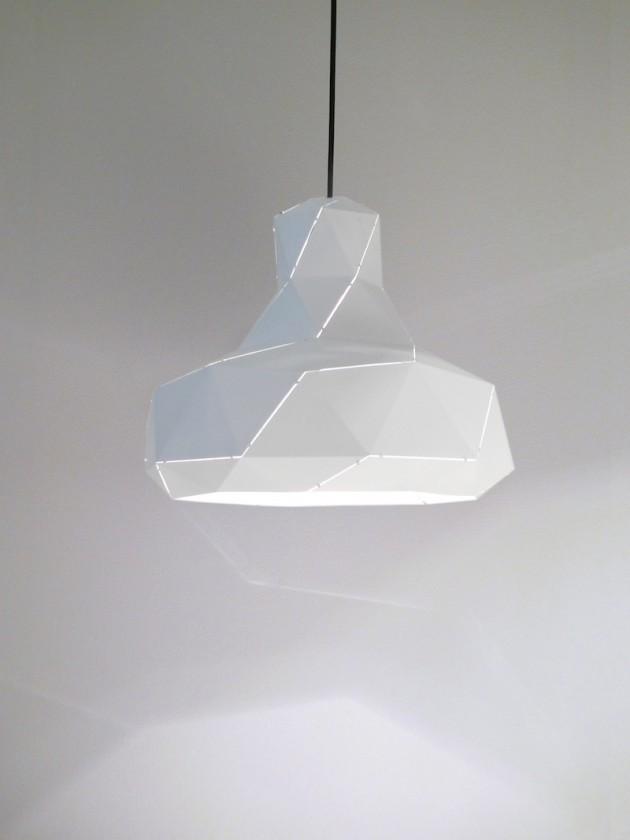 Helix lamp wit van Marc de Groot