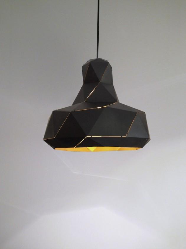 Helix lamp zwart/goud