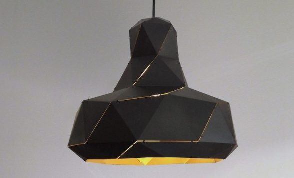 Helix hanglamp zwart/goud