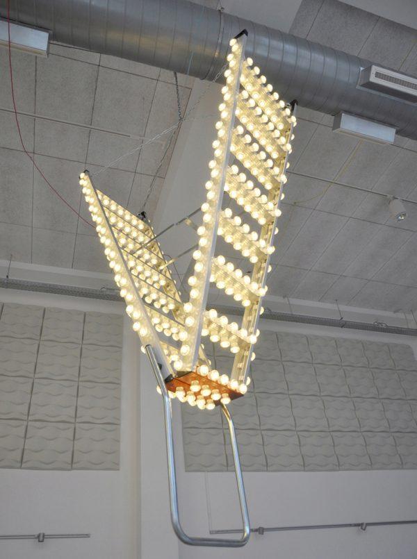 Downstairs light ook wel Stairway to heaven genoemd van Bertjan Pot op Woonbeurs, net als Gimmii
