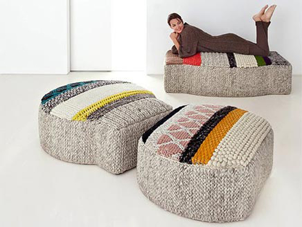 Sprookjesachtige tapijten en poefs gimmii dutch design - Bolas de madera para manualidades ...
