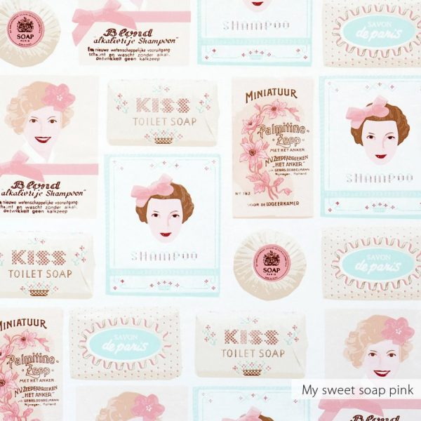 Behang sweet soap roze van Studio Ditte en BN Wallcoverings
