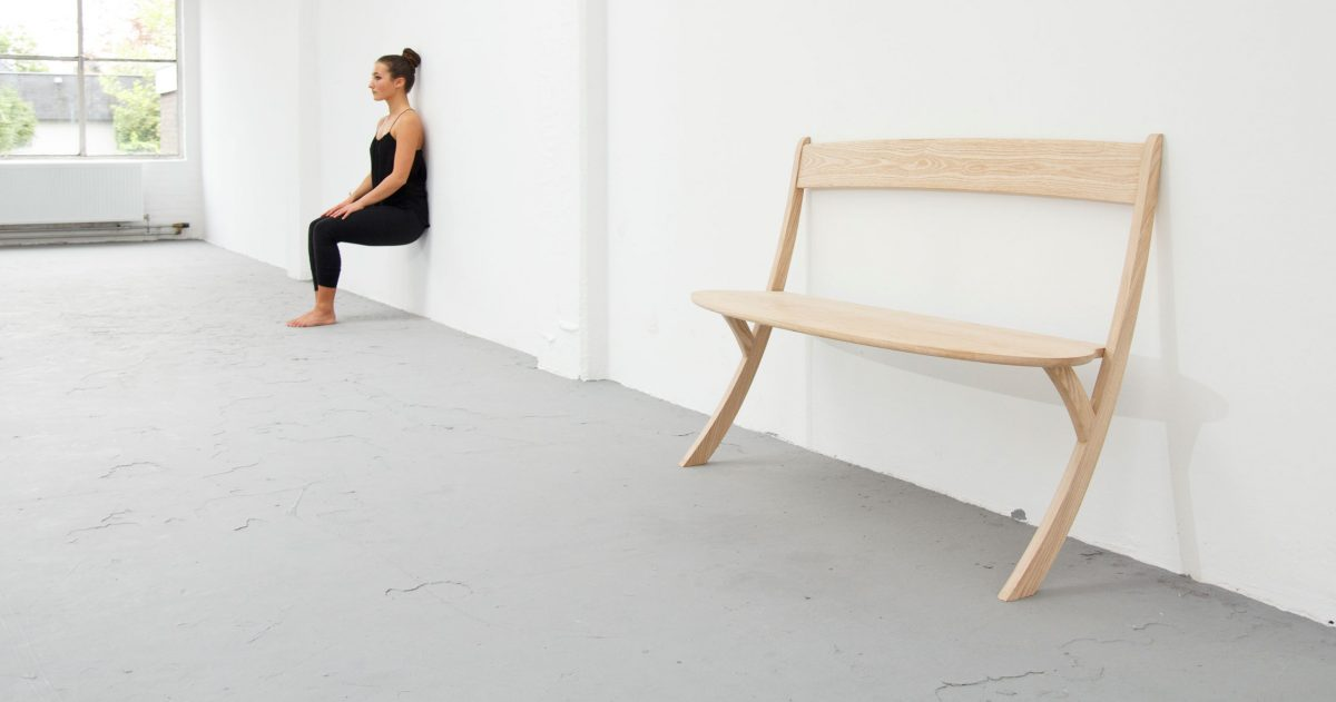 Leaning Bench design Izabela Boloz – gimmii shop Dutch design