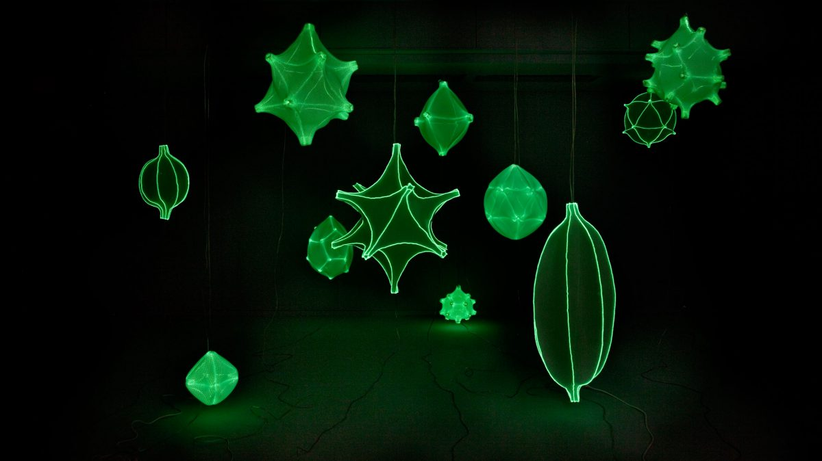 Radiolaria hanglampen glow in the dark Bernotat & Co – gimmii shop