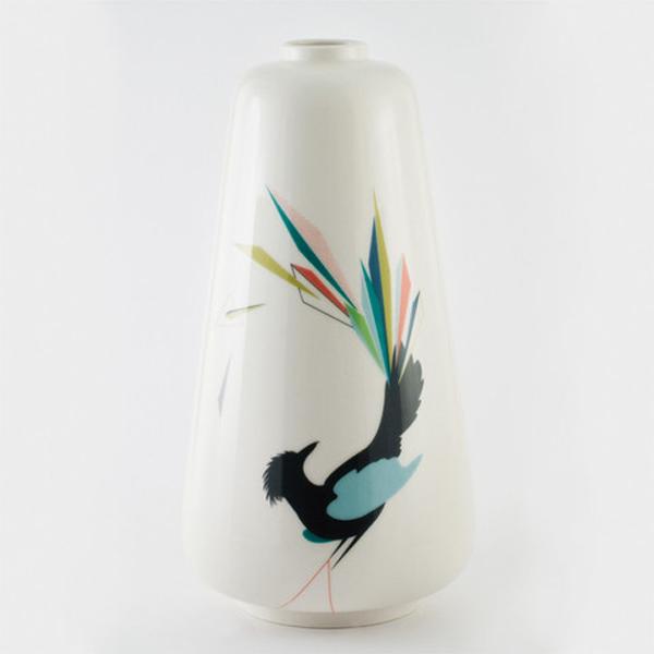Gullfuglen vase multi