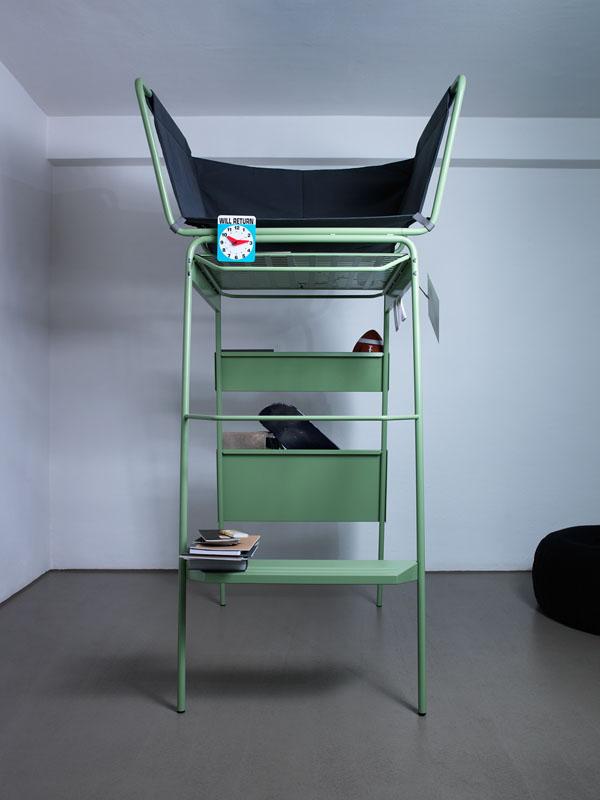 Tur Tur multifunctionele hoge stoel ofwel microarchitectuur van Eric Degenhardt