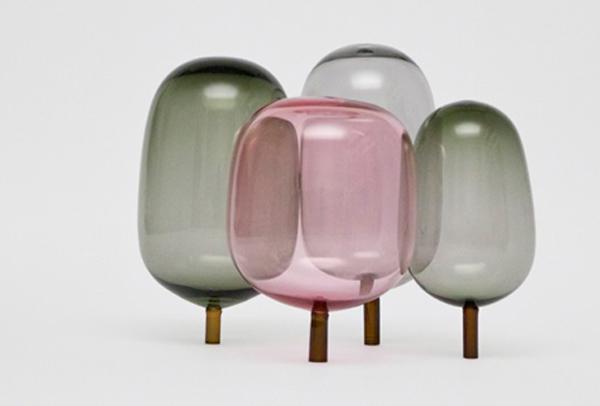 Woods glassculpturen herfstkleuren