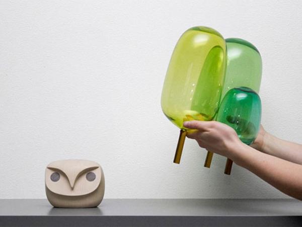 The Woods glassculpturen van het Noorse StokkeAustad en Andreas Engesvik
