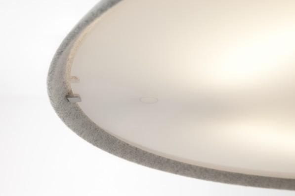 Close up van de ophanging van de Circular hanglamp van Studio WM