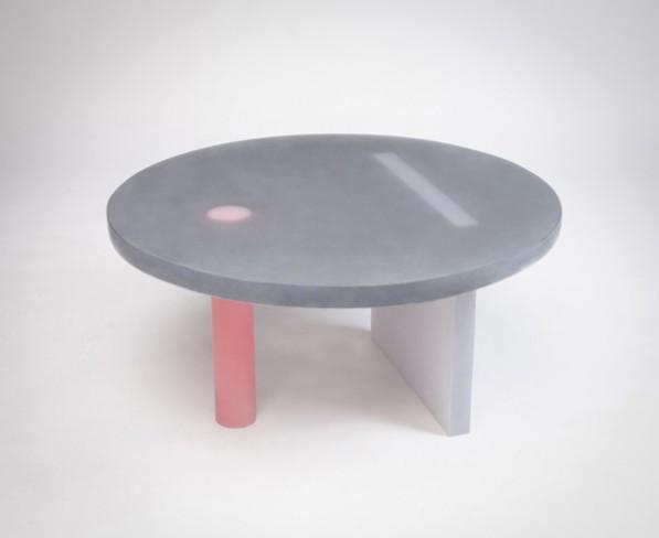 Haze ronde lage tafel zwart van Wonmin Park