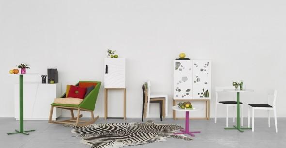 Kastje Sneak Peek en schommelstoel Joy van A2 Designers in Milaan