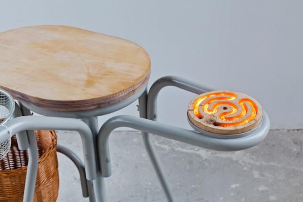 Studio Rygalik keukenobject met kookelement snijplank en broodmandfaciliteit